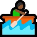 Person Rowing Boat: Medium-Dark Skin Tone on Microsoft Windows 10 May 2019 Update