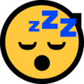 Sleeping Face on Microsoft Windows 10 May 2019 Update