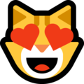 Smiling Cat with Heart-Eyes on Microsoft Windows 10 May 2019 Update