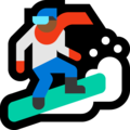 Snowboarder: Medium-Dark Skin Tone on Microsoft Windows 10 May 2019 Update