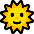 Sun with Face on Microsoft Windows 10 May 2019 Update