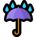 Umbrella With Rain Drops on Microsoft Windows 10 May 2019 Update