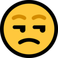 Unamused Face on Microsoft Windows 10 May 2019 Update