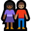 Woman and Man Holding Hands: Medium-Dark Skin Tone, Medium Skin Tone on Microsoft Windows 10 May 2019 Update