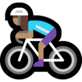 Woman Biking: Medium Skin Tone on Microsoft Windows 10 May 2019 Update
