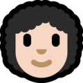 Woman: Light Skin Tone, Curly Hair on Microsoft Windows 10 May 2019 Update