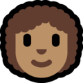 Woman: Medium Skin Tone, Curly Hair on Microsoft Windows 10 May 2019 Update