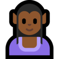 Woman Elf: Medium-Dark Skin Tone on Microsoft Windows 10 May 2019 Update