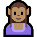Woman Elf: Medium Skin Tone on Microsoft Windows 10 May 2019 Update
