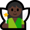Woman Fairy: Dark Skin Tone on Microsoft Windows 10 May 2019 Update
