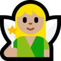 Woman Fairy: Medium-Light Skin Tone on Microsoft Windows 10 May 2019 Update