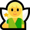 Woman Fairy on Microsoft Windows 10 May 2019 Update