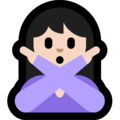 Woman Gesturing No: Light Skin Tone on Microsoft Windows 10 May 2019 Update