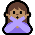 Woman Gesturing No: Medium Skin Tone on Microsoft Windows 10 May 2019 Update