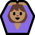 Woman Gesturing OK: Medium Skin Tone on Microsoft Windows 10 May 2019 Update
