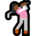 Woman Golfing: Medium-Dark Skin Tone on Microsoft Windows 10 May 2019 Update