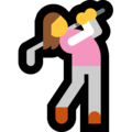 Woman Golfing on Microsoft Windows 10 May 2019 Update
