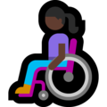 Woman in Manual Wheelchair: Dark Skin Tone on Microsoft Windows 10 May 2019 Update