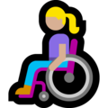 Woman in Manual Wheelchair: Medium-Light Skin Tone on Microsoft Windows 10 May 2019 Update