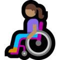 Woman in Manual Wheelchair: Medium Skin Tone on Microsoft Windows 10 May 2019 Update