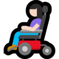 Woman in Motorized Wheelchair: Light Skin Tone on Microsoft Windows 10 May 2019 Update