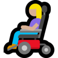 Woman in Motorized Wheelchair: Medium-Light Skin Tone on Microsoft Windows 10 May 2019 Update