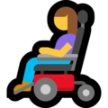 Woman in Motorized Wheelchair on Microsoft Windows 10 May 2019 Update