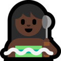 Woman in Steamy Room: Dark Skin Tone on Microsoft Windows 10 May 2019 Update