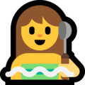 Woman in Steamy Room on Microsoft Windows 10 May 2019 Update
