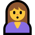 Woman Pouting on Microsoft Windows 10 May 2019 Update
