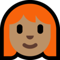 Woman: Medium Skin Tone, Red Hair on Microsoft Windows 10 May 2019 Update