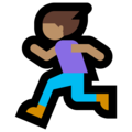 Woman Running: Medium Skin Tone on Microsoft Windows 10 May 2019 Update