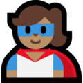 Woman Superhero: Medium Skin Tone on Microsoft Windows 10 May 2019 Update