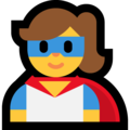 Woman Superhero on Microsoft Windows 10 May 2019 Update