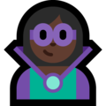 Woman Supervillain: Dark Skin Tone on Microsoft Windows 10 May 2019 Update