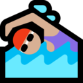 Woman Swimming: Medium-Light Skin Tone on Microsoft Windows 10 May 2019 Update