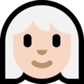 Woman: Light Skin Tone, White Hair on Microsoft Windows 10 May 2019 Update