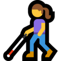 Woman with White Cane on Microsoft Windows 10 May 2019 Update