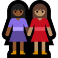 Women Holding Hands: Medium-Dark Skin Tone, Medium Skin Tone on Microsoft Windows 10 May 2019 Update