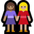Women Holding Hands: Medium Skin Tone, Medium-Light Skin Tone on Microsoft Windows 10 May 2019 Update