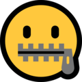 Zipper-Mouth Face on Microsoft Windows 10 May 2019 Update