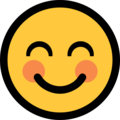 Smiling Face with Smiling Eyes on Microsoft Windows 11