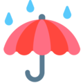 Umbrella With Rain Drops on Mozilla Firefox OS 2.5