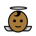 Baby Angel: Medium-Dark Skin Tone on OpenMoji 12.0