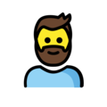 Man: Beard on OpenMoji 2.0
