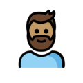 Man: Medium Skin Tone, Beard on OpenMoji 12.0