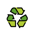 Recycling Symbol on OpenMoji 12.0