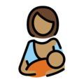 Breast-Feeding: Medium Skin Tone on OpenMoji 2.0