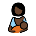 Breast-Feeding: Dark Skin Tone on OpenMoji 12.0