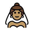 Person With Veil: Medium Skin Tone on OpenMoji 12.0